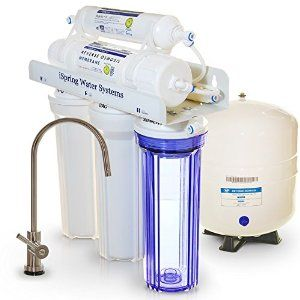 iSpring Osmosis Water Filter w/ Transparent 1st Stage & Designer Faucet