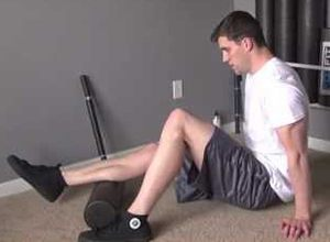 Foam Rolling calves